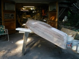 Canoe in progress 3r